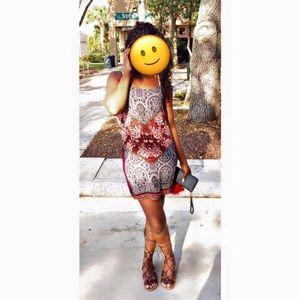 Socialite multi pattern dress.